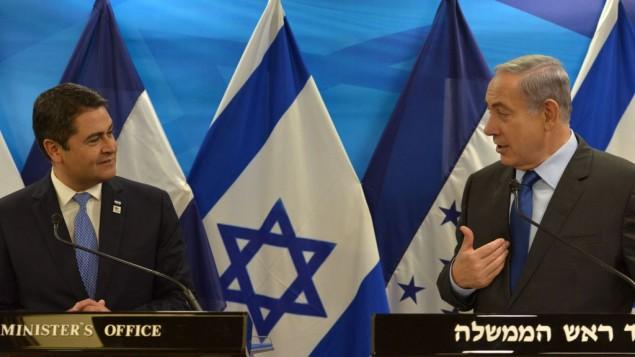 ראש-הממשלה-בנימין-נתניהו-נפגש-עם-נשיא-הונדורס-חואן-אורלנדו-הרננדס-Juan-Orlando-Hernández.-צילום-קובי-גדעון-לעמ-29.10.2015-2-635x357